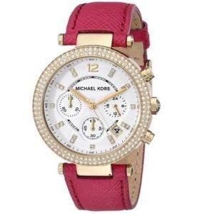 Michael Kors Parker Chronograph Watch hot pink